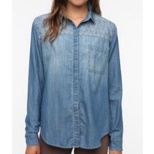 Urban Outfitters Staring Stars denim button down
